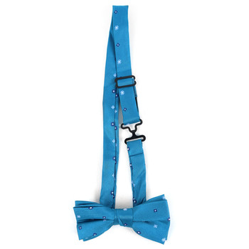 Boy's Turquoise Clip-on Suspender & Geometric Bow Tie Set - BSBS-TUR1