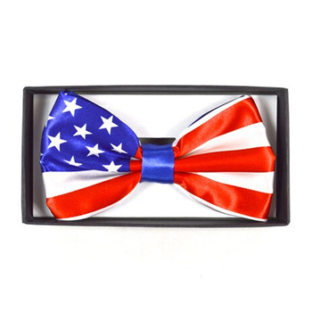 USA American Flag Banded Bow Ties NFB10001