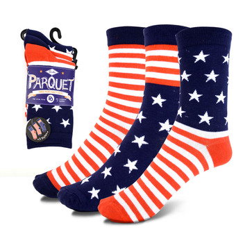 3 Pairs Pack Women's American Flag Socks - 3PKS-WAF
