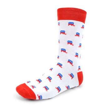 Men's Republican Elephant Novelty Socks - NVS1807