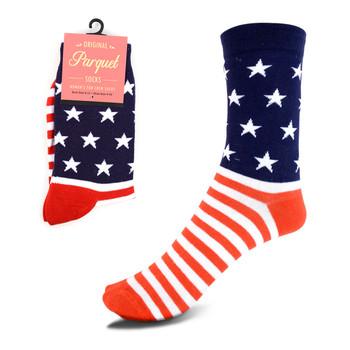 Women's American Flag Novelty Socks - LNVS1816