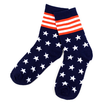 Women's American Flag, Stars & Stripes Novelty Socks - LNVS1817