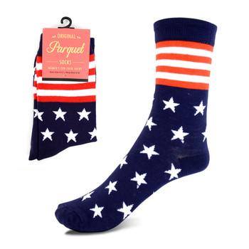 Women's American Flag, Stars & Stripes Novelty Socks - LNVS1817