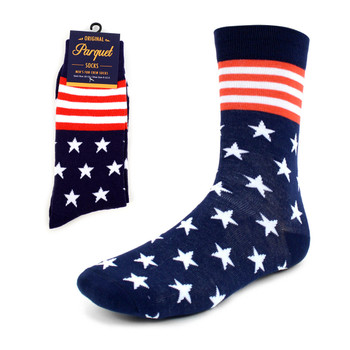 Men's Stars & Stripes Novelty Socks - NVS1817