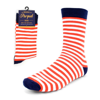 Men's red & White Stripes Novelty Socks - NVS1819