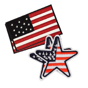 USA Iron-On Embroidered Patches - PT-AM/ASST