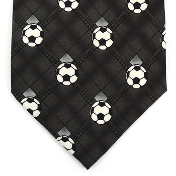 Boy's Soccer Charcoal Novelty Tie BN2601