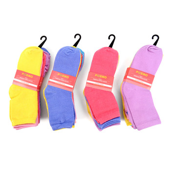 6 Pairs Assorted Solid Color Kids Socks 2-4 Yrs - GSS12ASST47