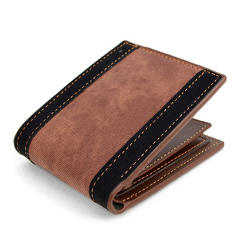 Bi-Fold  Leather Striped Wallet - MLW5186