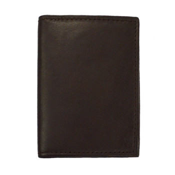 Leather Card & ID Holder 2CC BRN