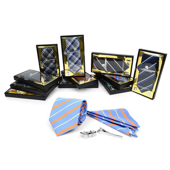 12pc Assorted Pack Tie, Hanky, Cufflink & Tie Bar Set - TCB4000