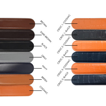 "46"" Cut To Size Genuine Leather Belt Strap For Auto-Lock Sliding Buckles - MGLBB-STRAP-ONLY"