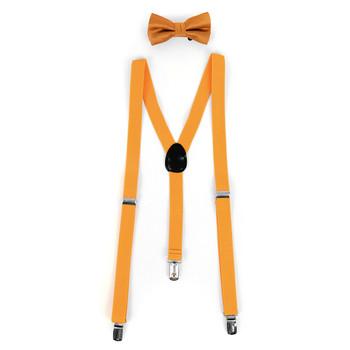 Boy's Solid Color Clip-on Suspenders, Bow Tie and Hanky Sets BBTHSU6308