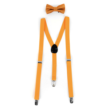 Boy's Solid Color Clip-on Suspenders, Bow Tie and Hanky Sets BBTHSU6308