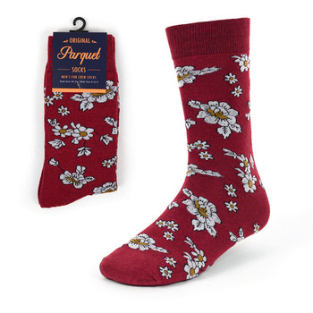 Floral Wedding Novelty Crew Socks - VC17125
