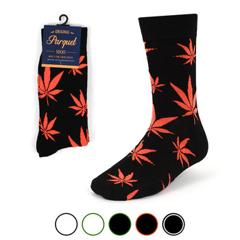 Marijuana Leaf Cannabis Novelty Crew Socks - NVS1802-04