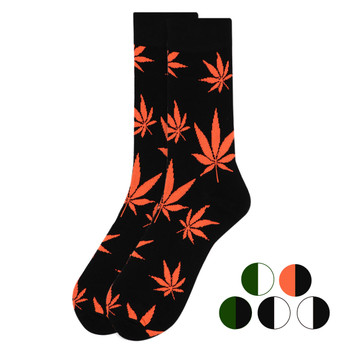 Weed Leaf Marijuana Novelty Crew Socks - NVS1802-04