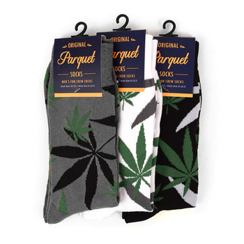 Marijuana Leaf Cannabis Novelty Crew Socks - NVS1801-05