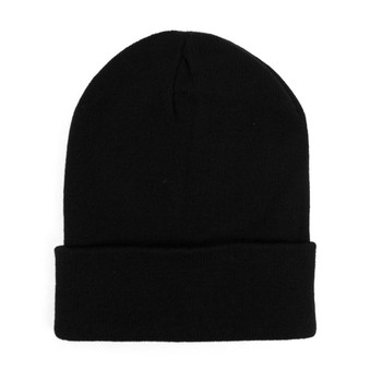 Thermal Windproof Winter Black Beanie Hat - SCAP01