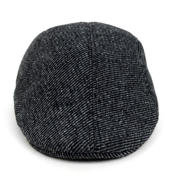 Fall/Winter Black & Charcoal Striped Ivy Hat - H1805054