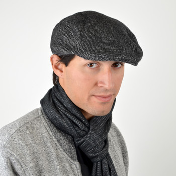Fall/Winter Black & White Speckled Ivy Hat - H1805267