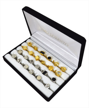 Assorted 24 pc Men's Gold & Silver Tie Tack Set ATT-A