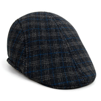 Fall/Winter Charcoal Plaid Ivy Hat - H1805004
