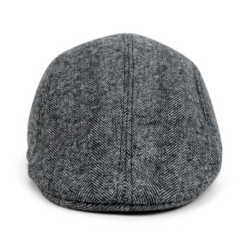Fall/Winter Charcoal Chevron Pattern Ivy Hat - H1805005