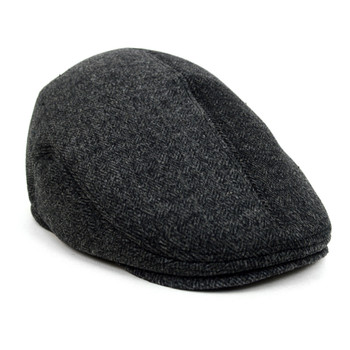 Fall/Winter Charcoal Ivy Hat with Ear Flaps - H1805012