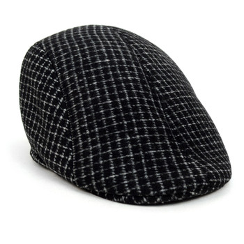 Fall/Winter Charcoal Plaid Ivy Hat - H1805013