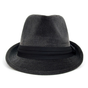 Fall/Winter Trilby Fedora Hat with Black Band Trim - H1805015