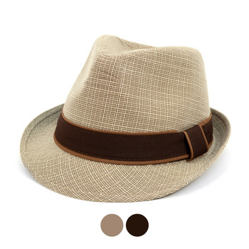 Fall/Winter Trilby Fedora Hat with Brown Band Trim - H1805017