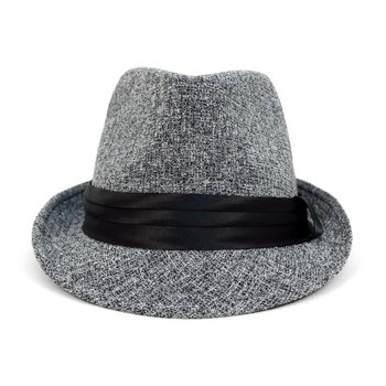 ... Fall Winter Trilby Fedora Hat with Black Band Trim - H1805018 66710af26626