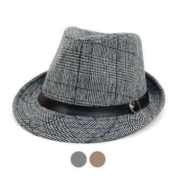 Fall Winter Plaid Trilby Fedora Hat with Black Band Trim - H1805022 ... 0f91d7c29422