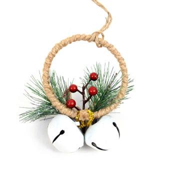 Christmas Circle Shape Ornaments Decoration - XMAO5241-WHT