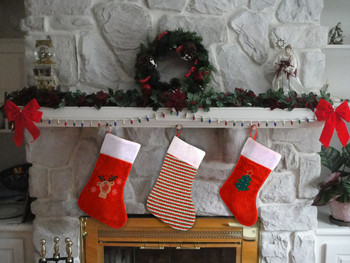 Red & Green Striped Christmas Stockings - XWDC5125
