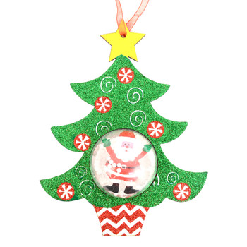 Christmas Tree Shape with Snow Dome Ornament- XHDC5195