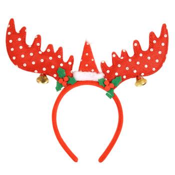 Red Reindeer Antler Christmas Headband - XAP5317