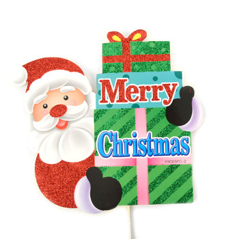 Merry Christmas Santa Claus Yard Sign - XLW5135
