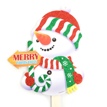 Snowman Merry Christmas Yard Sign - XLW5136