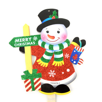 Snowman Merry Christmas Yard Sign - XLW5138