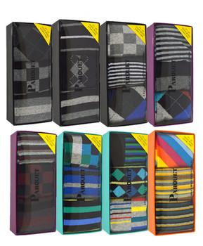 24pre-pack assorted 3 pair men's multi colored socks MFS1000
