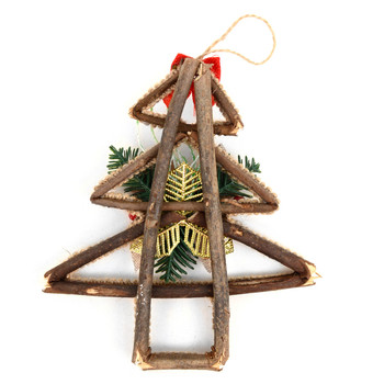 Christmas Tree Shape Twig Rustic Ornament - XMAO5229