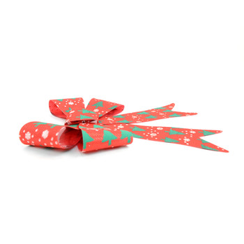 Christmas Holiday Red & Green Bow Decoration - XRT5188