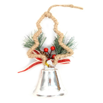Christmas Tree Silver Bell Ornaments Decorations - XMAO5239-Silver