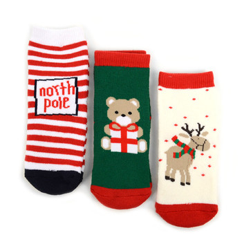 3 Pairs Pack Toddler Christmas Holidays Crew Socks 2-4 yrs - 3PK-24TXMS1
