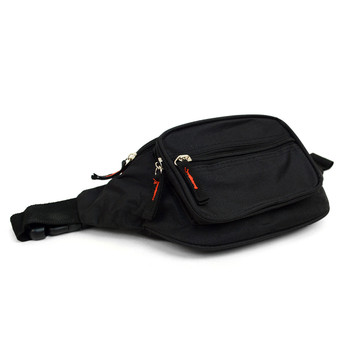Black Fanny Waist Bag with Adjustable Strap - FBW1852