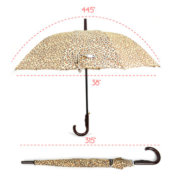 Animal Print Brown Cheetah Auto Open Umbrella - UM18061-CH/BRN
