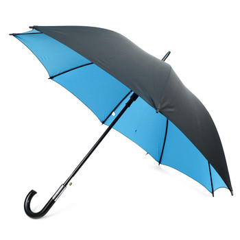 Black and Turquoise Auto Open Canopy Umbrella -UM18058-BLK