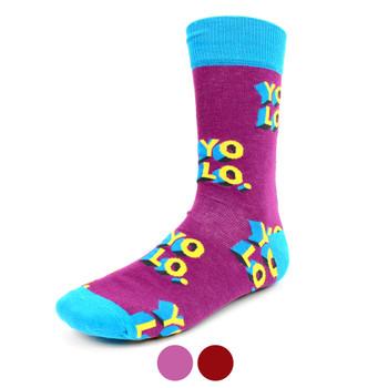 """Men's """"YOLO""""Novelty Socks - NVS1905"""